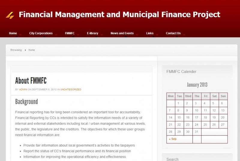 Financial Management & Municipal Finance Project